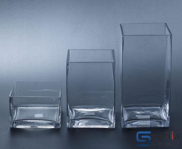 cube glass vases