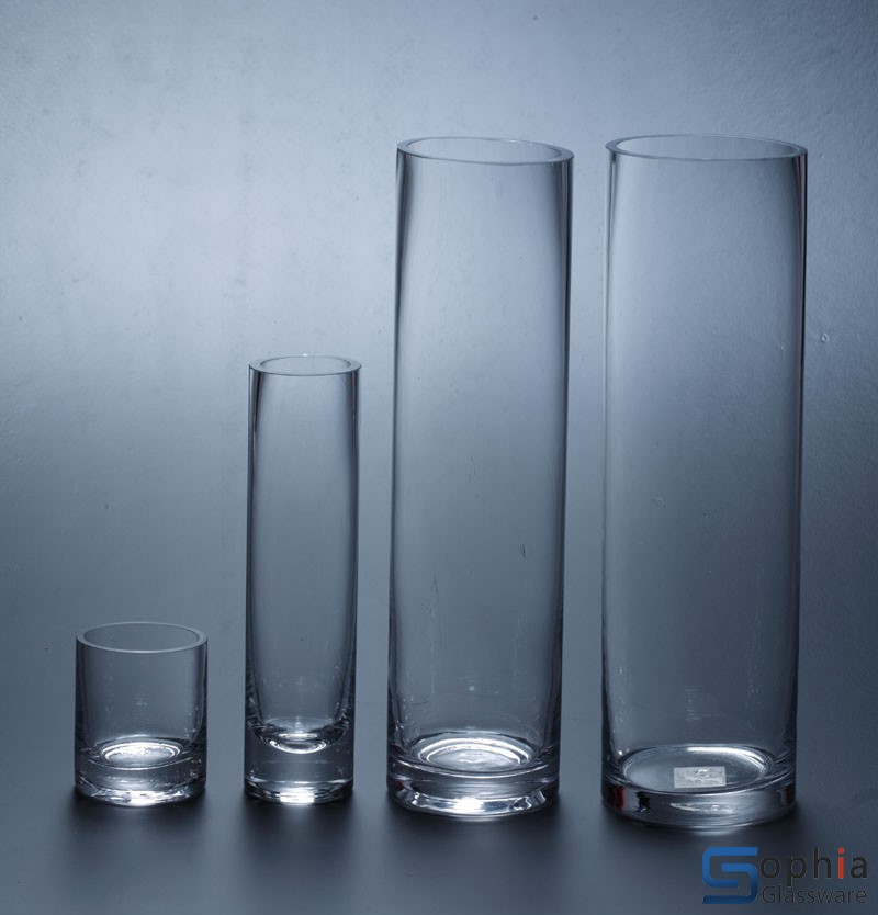 Cylinder glass vase SY001 002 003 004 sophiaglassware